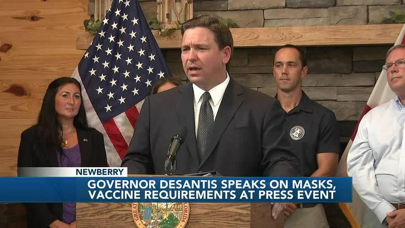 Governor DeSantis implements $5,000 fine each time a government agency enforces vaccination