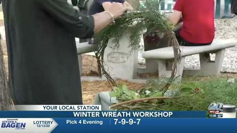 Gainesville florists host winter wreath workshop