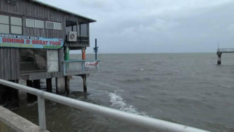 Cedar Key before Elsa makes landfall