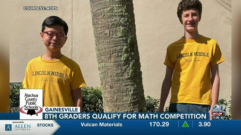 Two Alachua County students have qualified for the 2021 MATHCOUNTS Competition