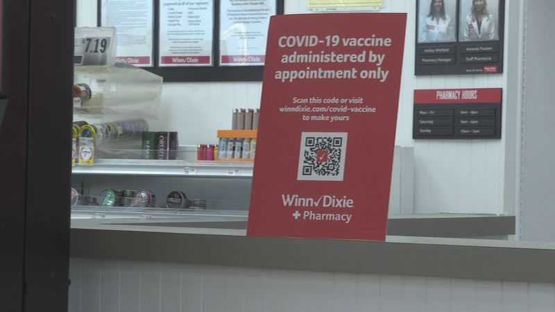 The Winn Dixie in Panama City off Transmitter Road and in Lynn Haven administered the first...