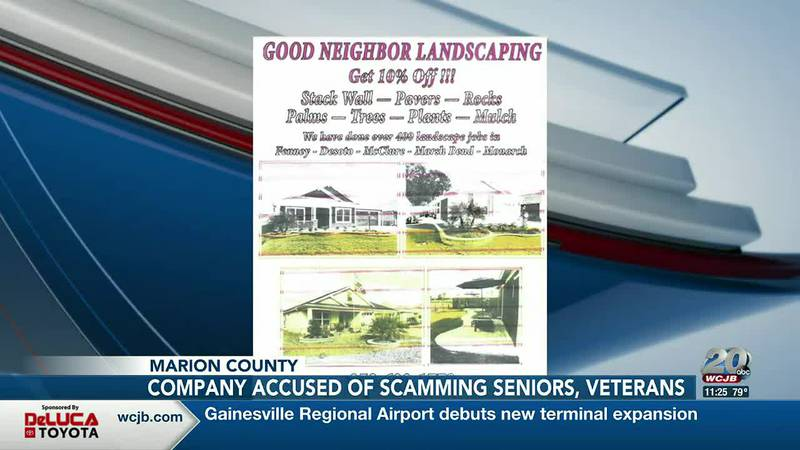 Florida Attorney General is filing a complaint against Marion County landscaping business