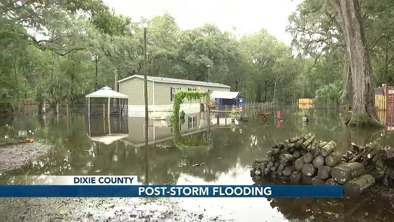 Mary Goodrich of Dixie county flooded home