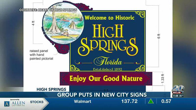 High Springs gateway signs get an updated look