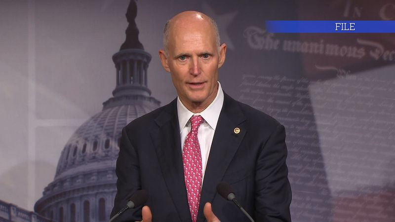 Sen. Rick Scott talks about legislation on Capitol Hill.