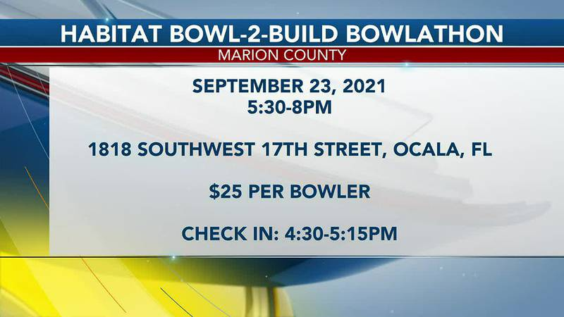 The Habitat for Humanity of Marion County hosts its 11th Annual Habitat Bowl-2-Build Bowlathon