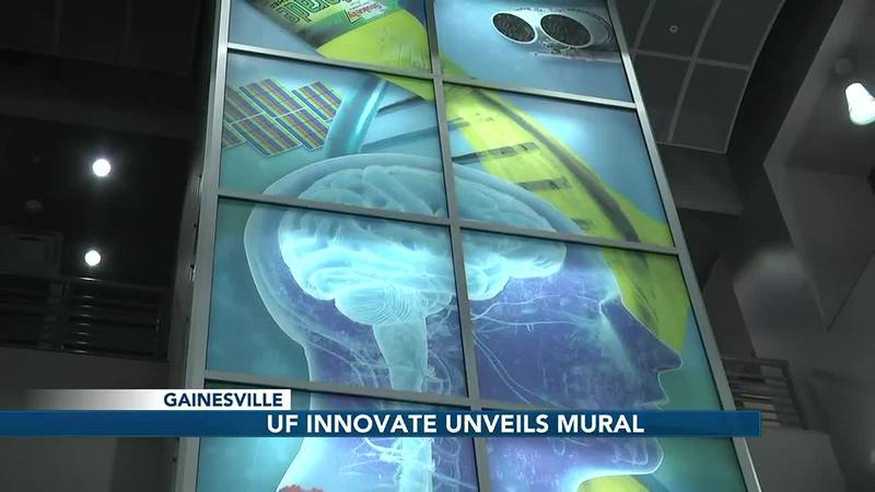 """The UF Innovate Hub unveils its new """"Flow of Innovation"""" mural"""