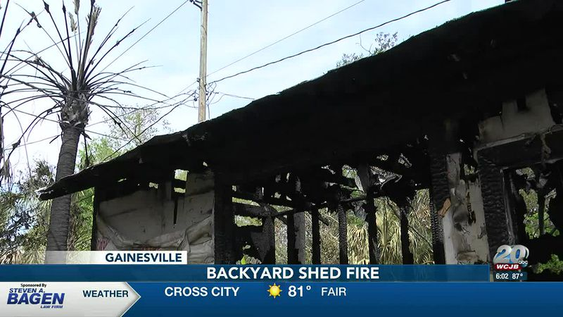 Gainesville shed fire