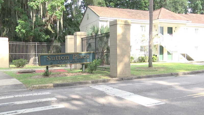 The Sutton Place Apartments where a shooting left a 16-year-old dead.