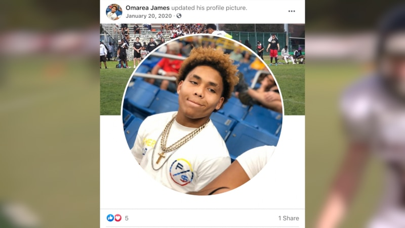 Friends and family of 18-year-old Omarea James have identified him as the third football player...