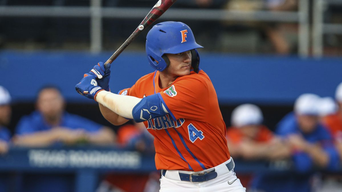 Florida outfielder Jud Fabian (4) during an NCAA baseball game against Florida A&M on...