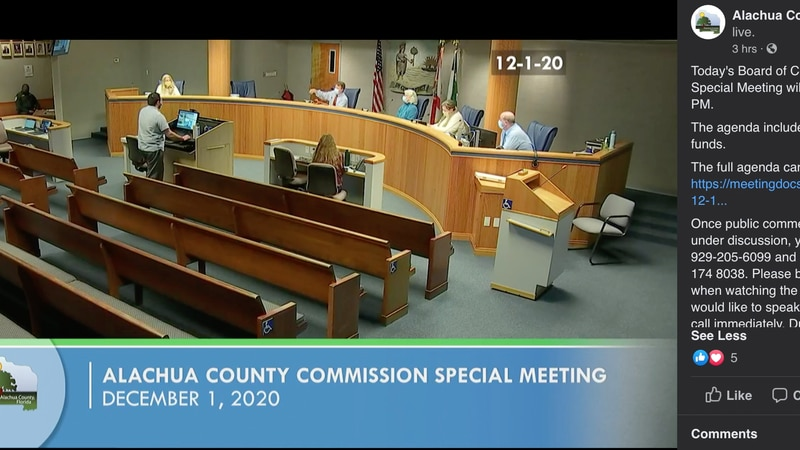 Alachua County commission meeting