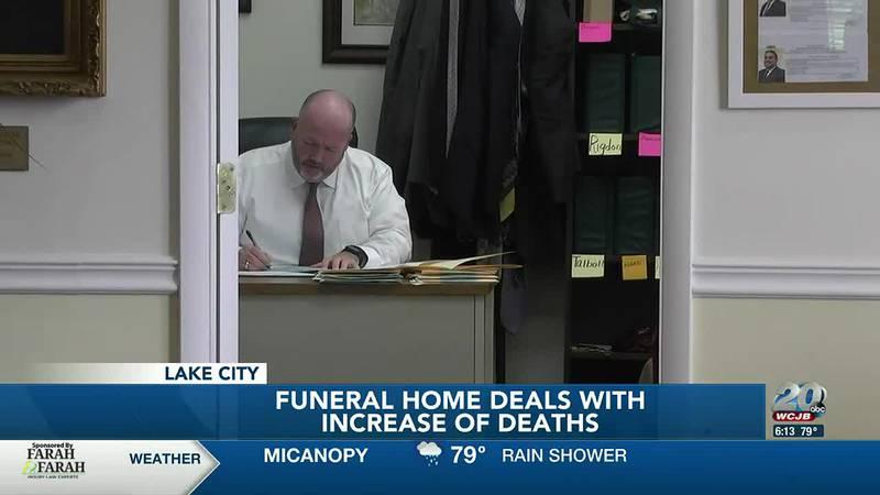 Funeral home desk