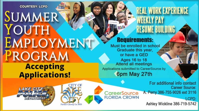 Career Source Florida Crown is offering the program in partnership with the Lake City Police...