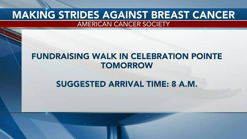 """The """"Making Strides Against Breast Cancer"""" walk kicks off Saturday morning at Celebration Pointe"""