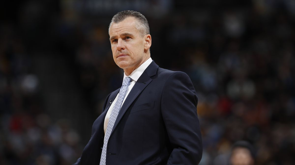 Oklahoma City Thunder head coach Billy Donovan in the second half of an NBA basketball game Thursday, Feb. 1, 2018, in Denver. The Nuggets won 127-124. (AP Photo/David Zalubowski)