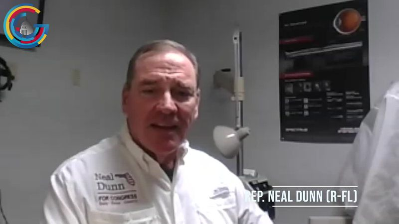 Rep. Neal Dunn does an interview from his office in Florida.