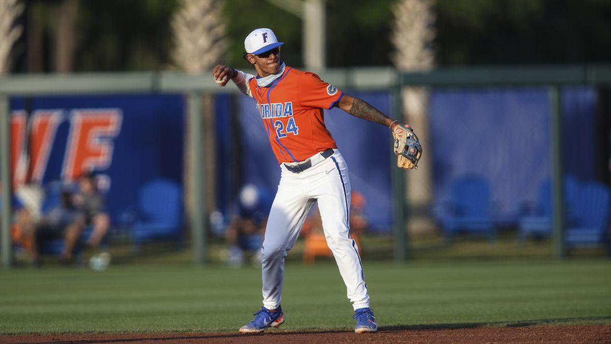 Florida infielder Josh Rivera (24) during an NCAA baseball game against Florida A&M on...