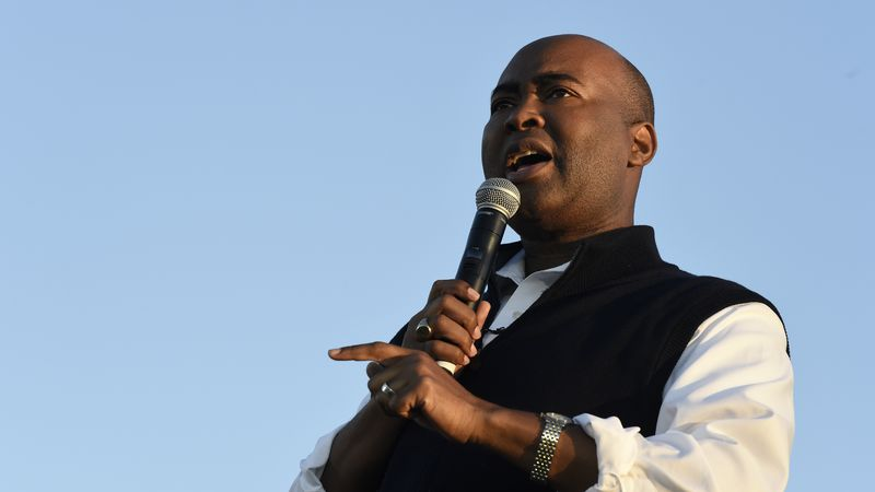 FILE - In this Oct. 17, 2020 file photo, then-Democratic U.S. Senate candidate Jaime Harrison...