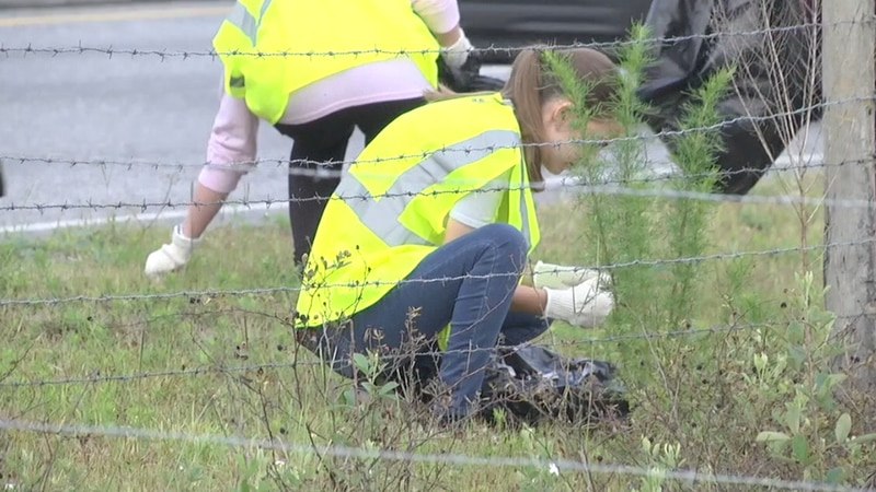 An average of 125,000 pounds of litter is picked up around Marion County.