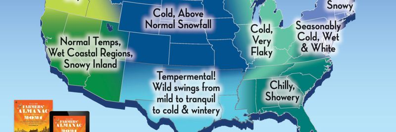 Farmers Almanac Predicts Winter Of The Great Divide,Wildflowers That Bloom In The Fall