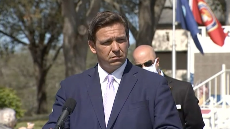 Gov. Ron DeSantis was in Brooksville to speak at a new vaccination site at the High Point...