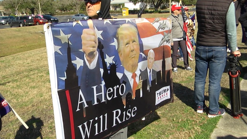 Supporters of President Donald Trump gathered in Ocala to thank him ahead of President-elect...