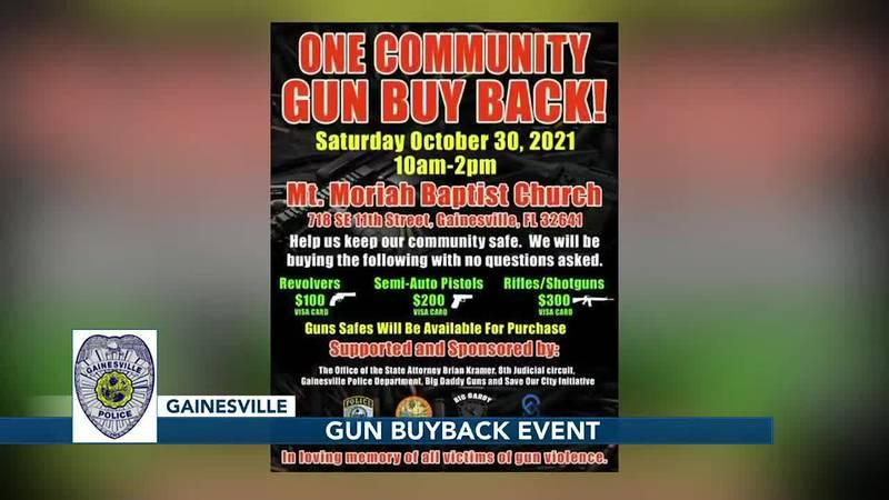 Gainesville police hosting gun buyback to curb gun violence