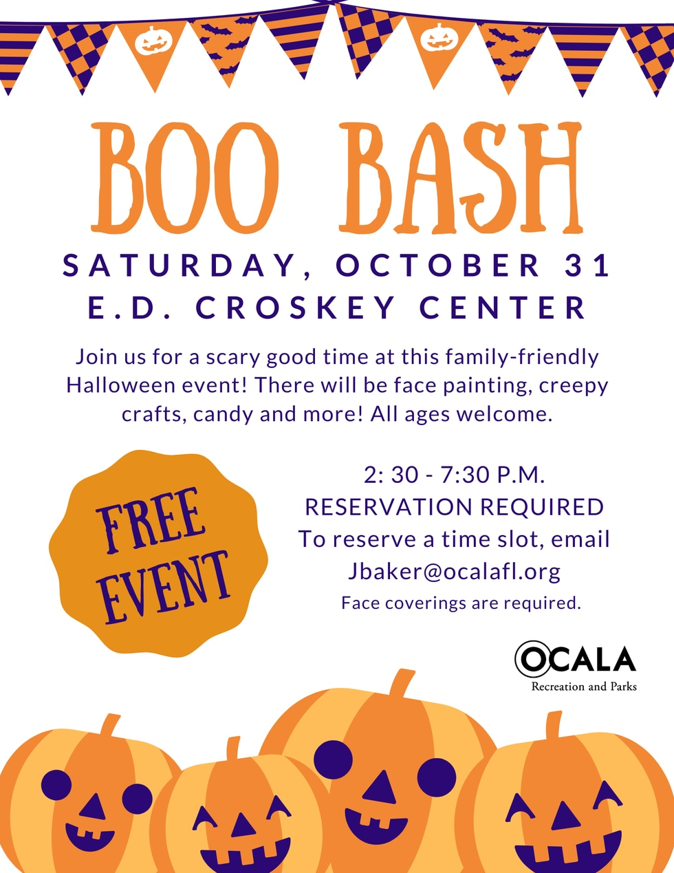 Ocala's annual 'Boo Bash' event is still on, with costumes, arts and crafts and...