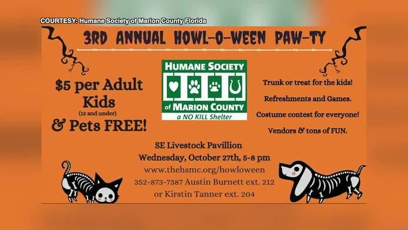 Marion County Humane Society hosts third annual 'Howl-O-ween Pawty'