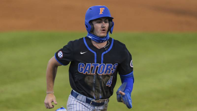 Florida outfielder Jud Fabian (4) during an NCAA baseball game against North Florida on...