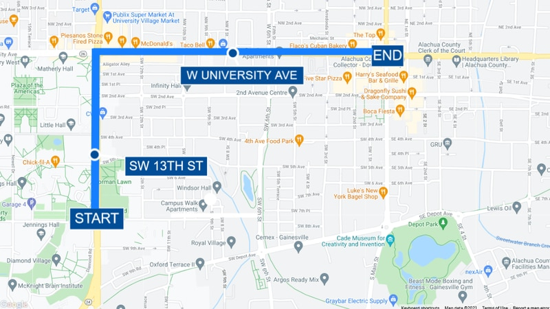 New route announced for University of Florida homecoming parade