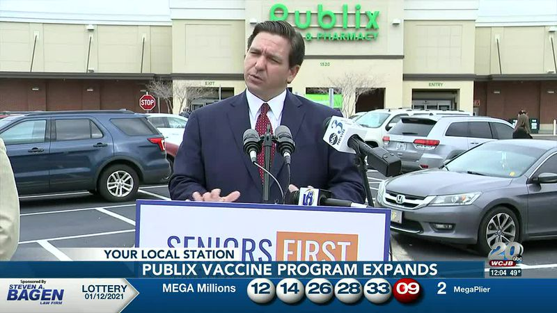 Gov. Ron DeSantis says Publix vaccination program is expanding