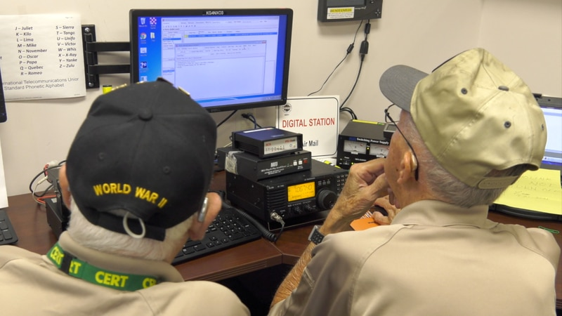 MERT is made up of about 25 volunteers who operate ham radios to keep the lines of...