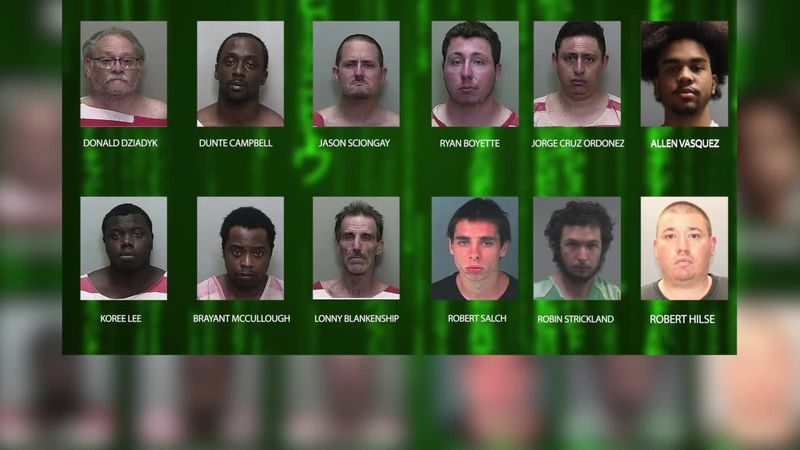 """Sheriffs deputies are calling them """"the Dirty Dozen"""" - 12 men are behind bars after a sting..."""