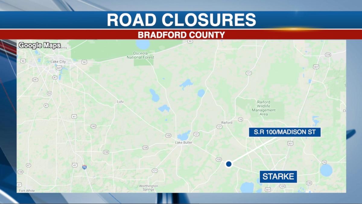 Bradford County road Closure on SR 100