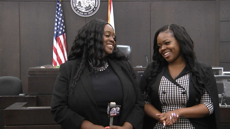 Ciera and Kariss Gainey after Kariss was sworn-in as an attorney.