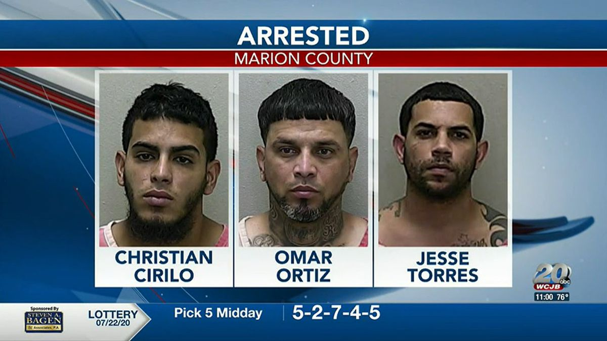 The three men originally arrested for the murder of Jafet Rodriquez in July, 2020.