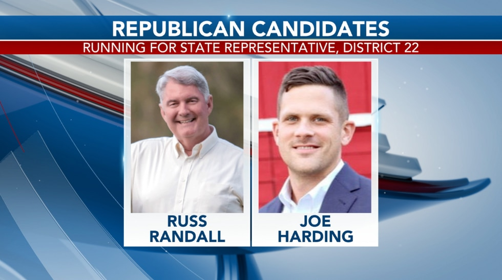 Russ Randall and Joe Harding are the two republicans vying for the seat. This is the first time either are running for office.