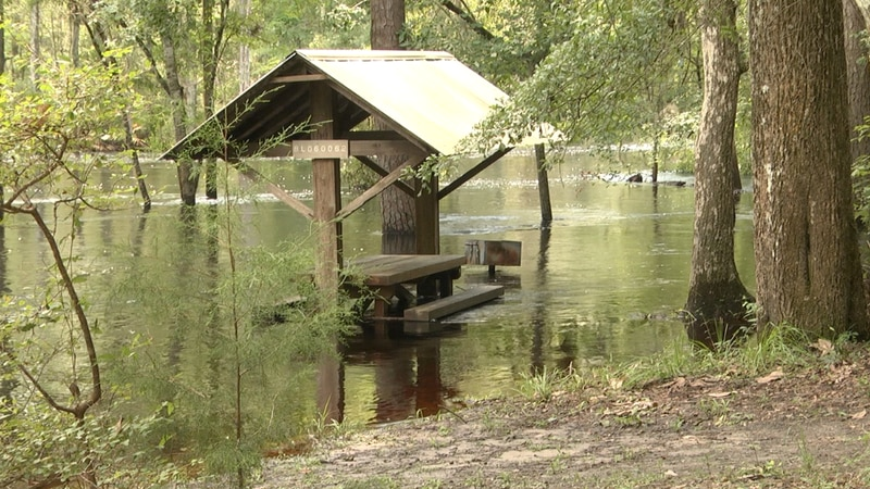 Water levels yet to recede to 'normal' along Santa Fe River
