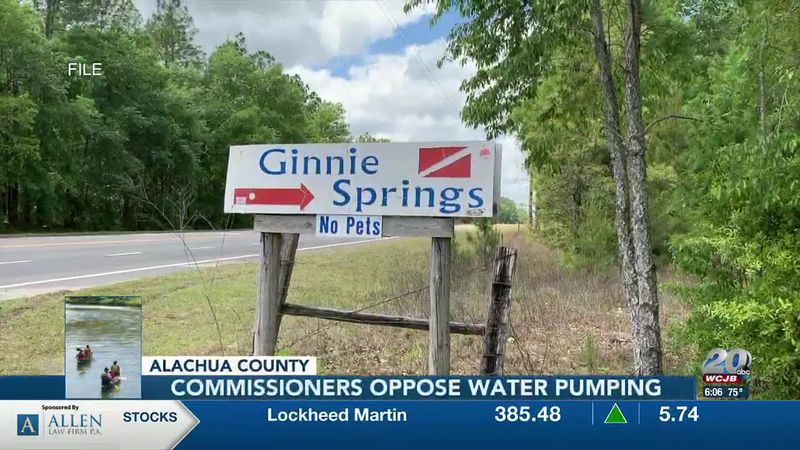 Alachua County Commissioners oppose water pumping