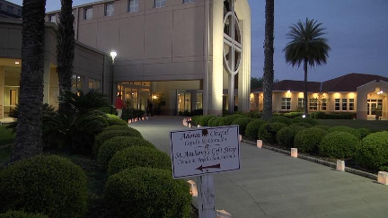 Bishop Felipe Estévez visits Gainesville for Easter vigil