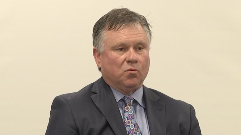 Mansfield speaking at an election forum.