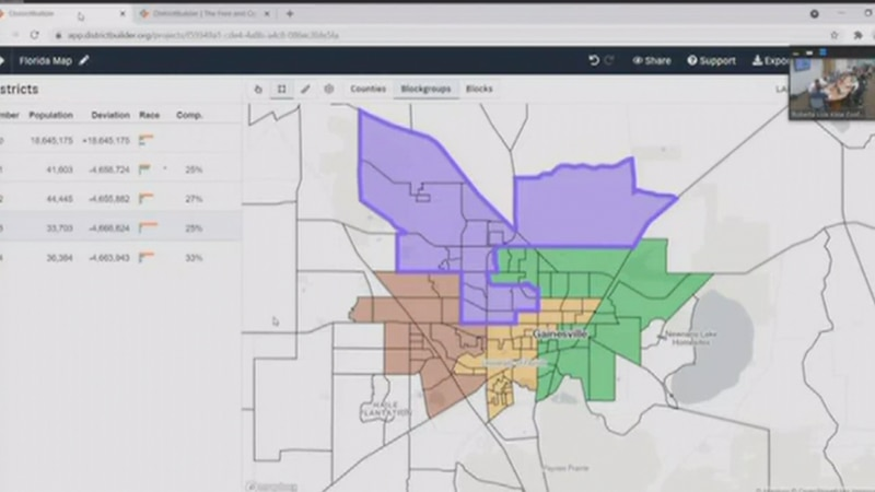 Gainesville city commissioners discuss redrawing district lines