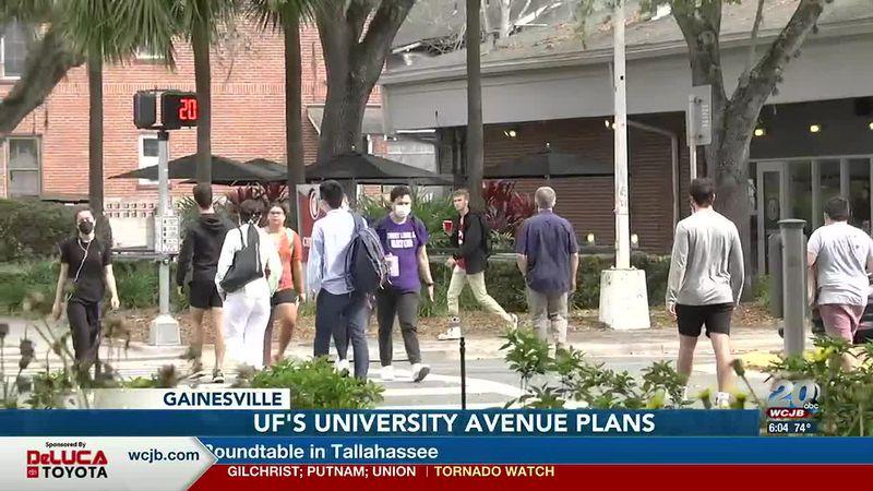 People crossing University Avenue