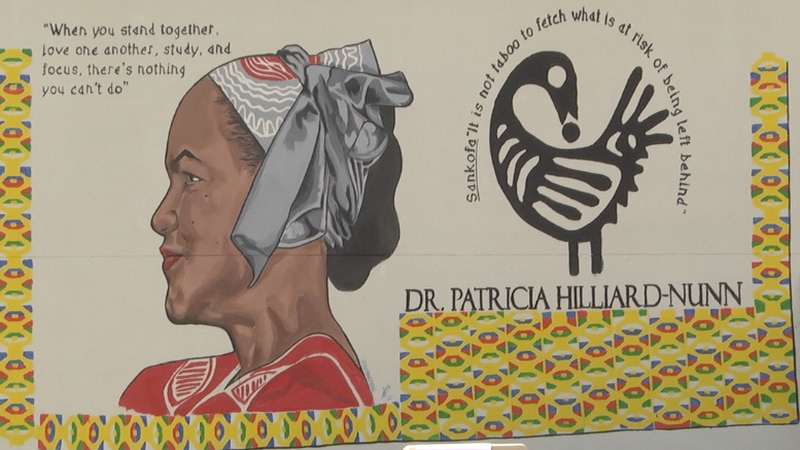 Mural honors legacy of late Gainesville social justice activist, Dr. Patricia Hilliard-Nunn