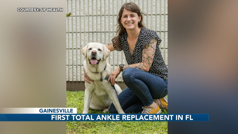 UF's small animal hospital is the first in the state to successfully perform a full ankle...