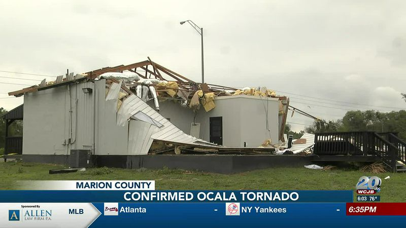 Confirmed tornado in Ocala Sunday evening