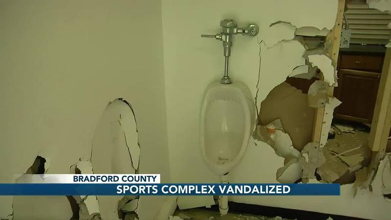 Police investigate vandalized sports complex in Bradford County