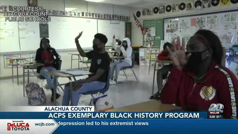 Gainesville High students in the classroom learning about Black history.
